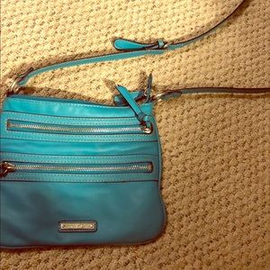 Nine West crossbody teal blue bag